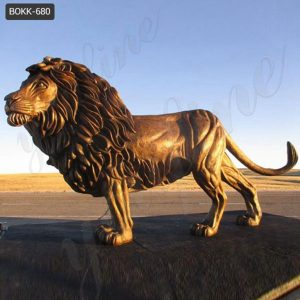 Outdoor Bronze Lion Statues Scenic Area Art Decor for Sale BOKK-680
